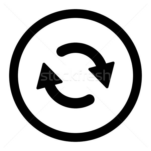Refresh flat black color rounded vector icon Stock photo © ahasoft