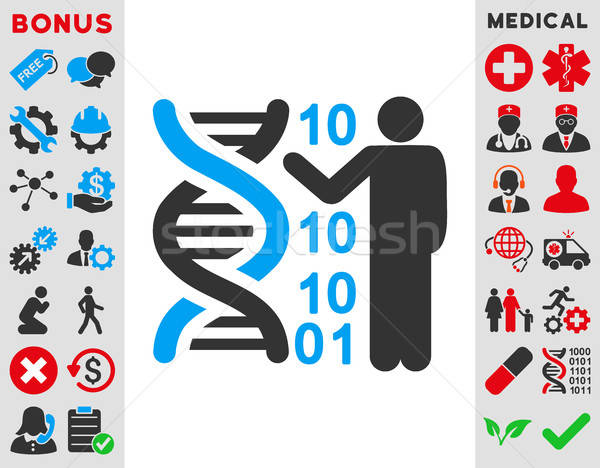 Dna Code Report Icon Stock photo © ahasoft