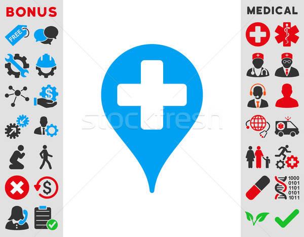 Medical Map Marker Icon Stock photo © ahasoft