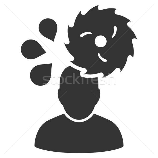 Circular Saw Accident Raster Icon Stock photo © ahasoft