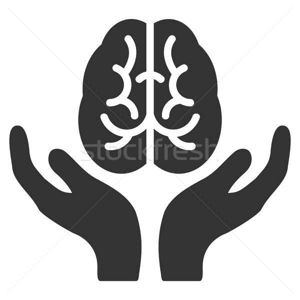 Brain Care Hands Raster Icon Stock photo © ahasoft