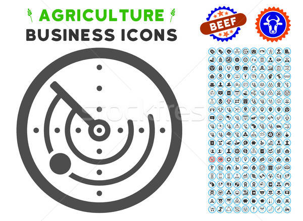 Radar Icon with Agriculture Set Stock photo © ahasoft