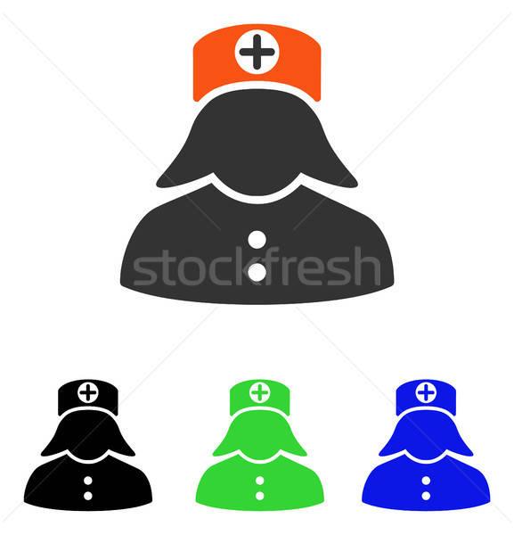 Hemşire vektör ikon örnek stil ikonik Stok fotoğraf © ahasoft