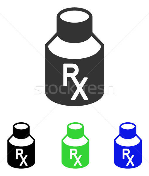 Receipt Vial Flat Vector Icon Stock photo © ahasoft