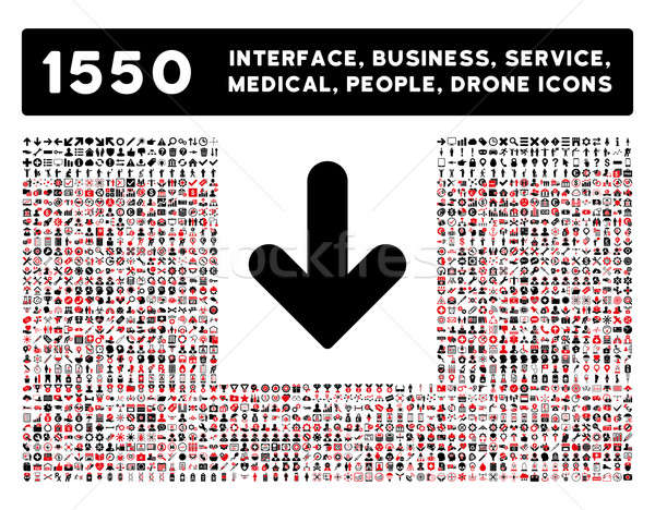 Arrow Down Icon and More Interface, Business, Tools, People, Medical, Awards Flat Glyph Icons Stock photo © ahasoft