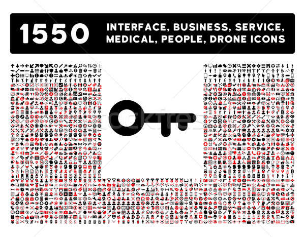 Key Icon and More Interface, Business, Tools, People, Medical, Awards Flat Glyph Icons Stock photo © ahasoft