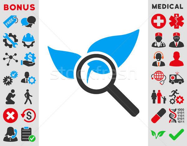Keşfetmek doğal ilaçlar ikon vektör stil Stok fotoğraf © ahasoft