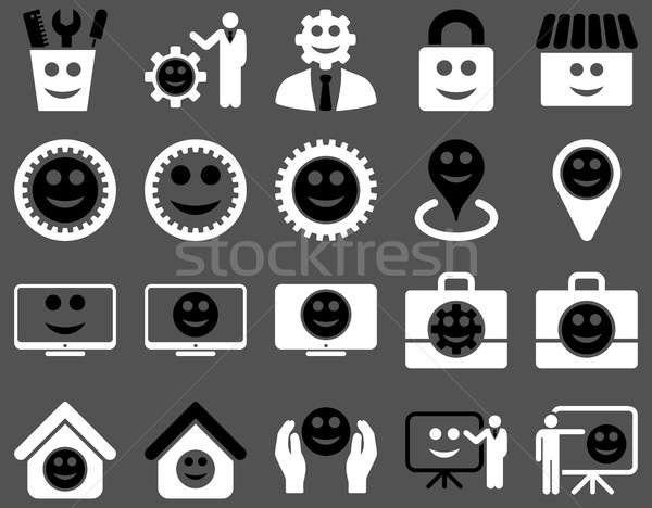 Outils engins sourires gestion icônes Photo stock © ahasoft