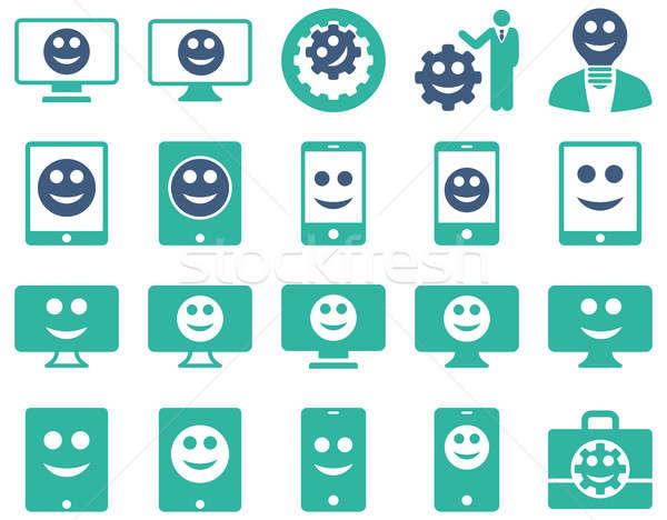 ツール オプション 笑顔 アイコン セット ストックフォト © ahasoft
