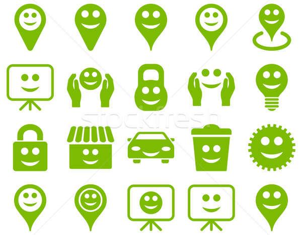 Araçları seçenekleri gülümsüyor nesneler simgeler ayarlamak Stok fotoğraf © ahasoft