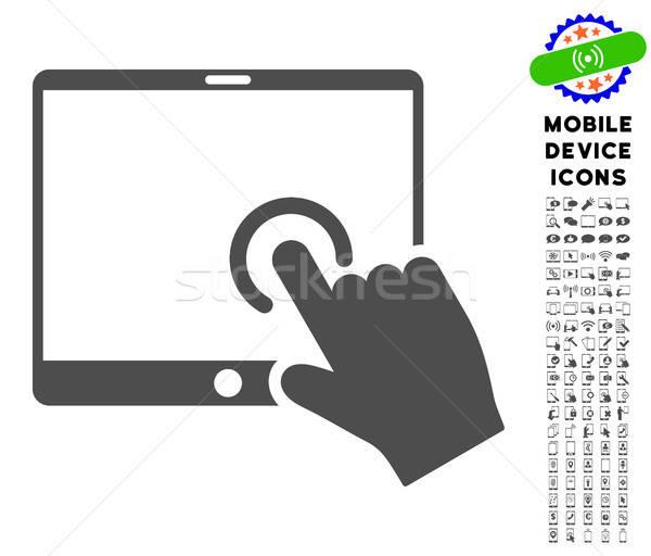 Strony kontakcie pda ikona smartphone Zdjęcia stock © ahasoft