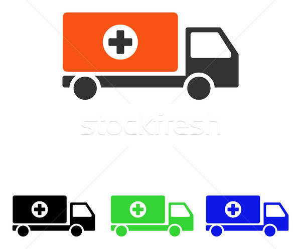 Drugs Shipment Flat Vector Icon Stock photo © ahasoft