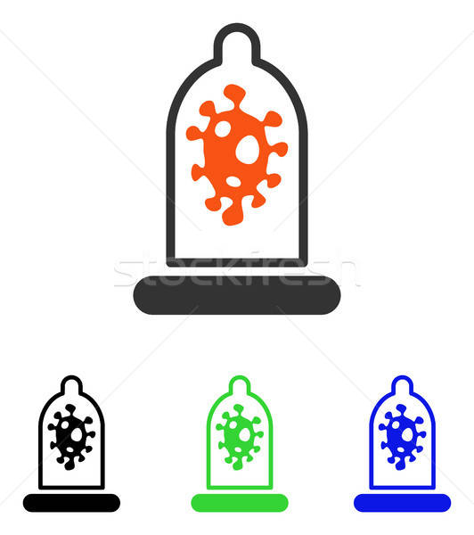 Infection Protection Flat Vector Icon Stock photo © ahasoft