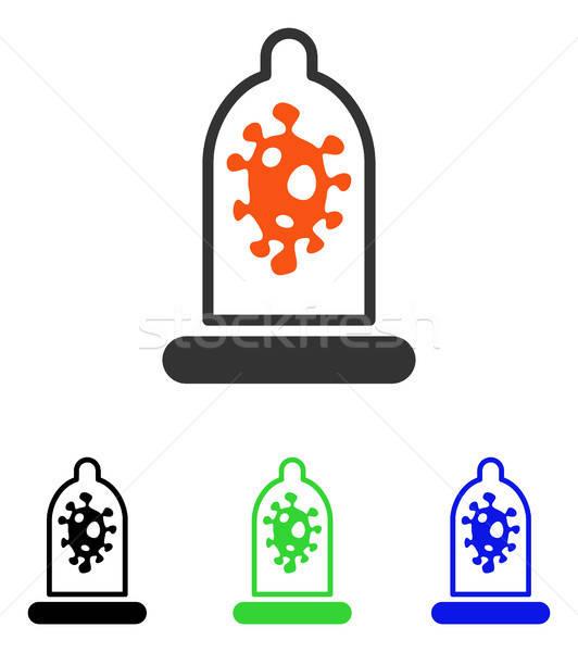 Infecção proteção vetor ícone ilustração estilo Foto stock © ahasoft