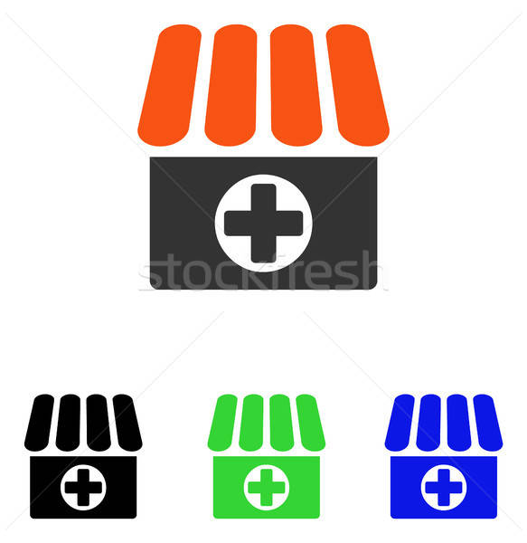 Medical Quadcopter Flat Vector Icon Stock photo © ahasoft
