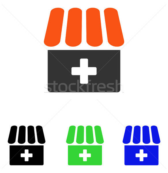Drogist vector icon illustratie stijl Stockfoto © ahasoft