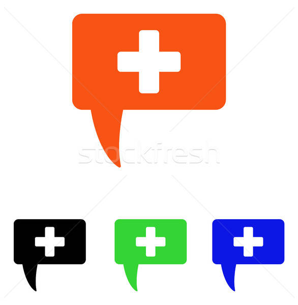 Medical Answer Flat Vector Icon Stock photo © ahasoft