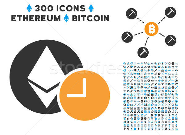 Stock photo: Ethereum Credit Clock Flat Icon with