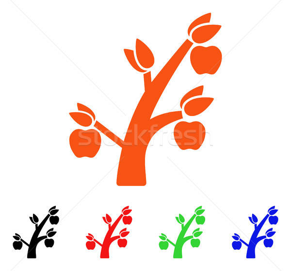 Apple Tree Vector Icon Stock photo © ahasoft