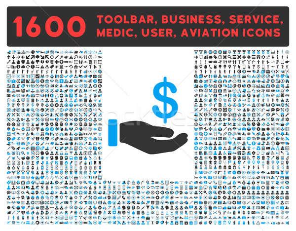 Inkomsten icon groot pictogram collectie ander Stockfoto © ahasoft