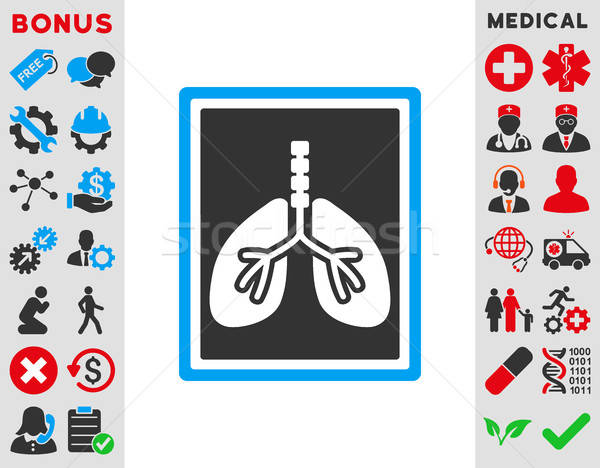 Lungs X-Ray Photo Icon Stock photo © ahasoft