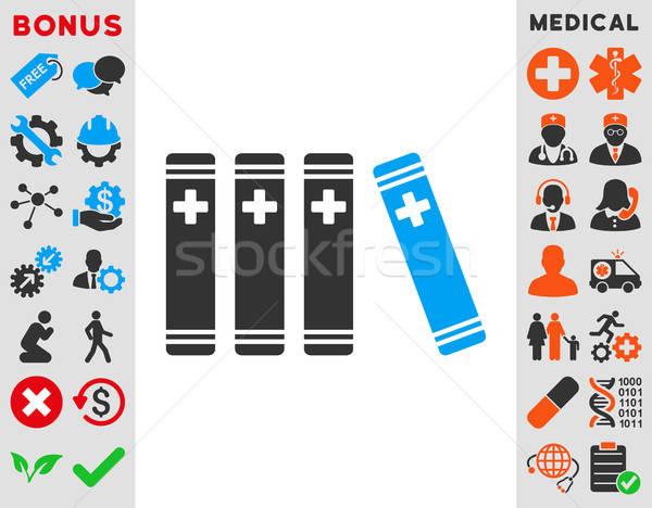 Medische boeken icon vector stijl symbool Stockfoto © ahasoft