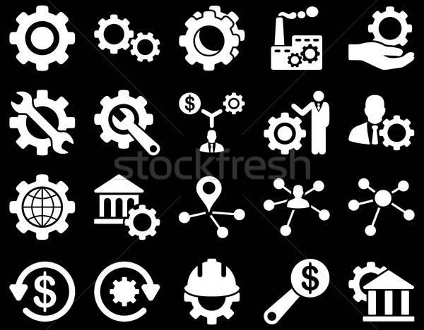 Ferramentas ícones vetor conjunto estilo Foto stock © ahasoft