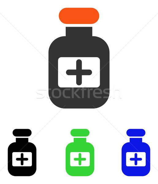 Stockfoto: Drugs · fles · vector · icon · pictogram · illustratie