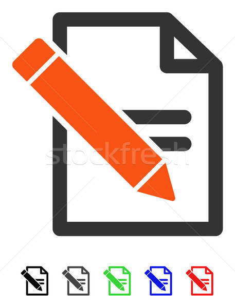 Edit Records Flat Icon Stock photo © ahasoft