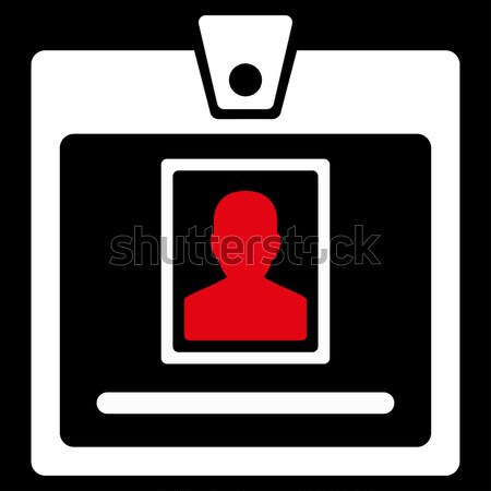 Person Badge Flat Icon Stock photo © ahasoft