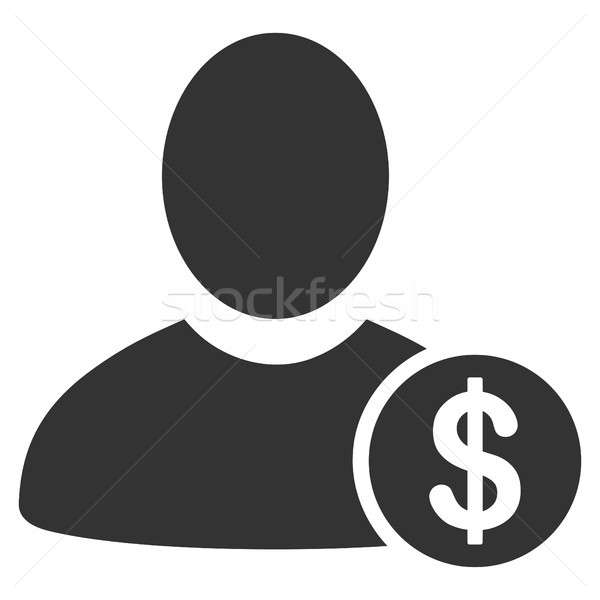 Stock photo: Banker Flat Icon