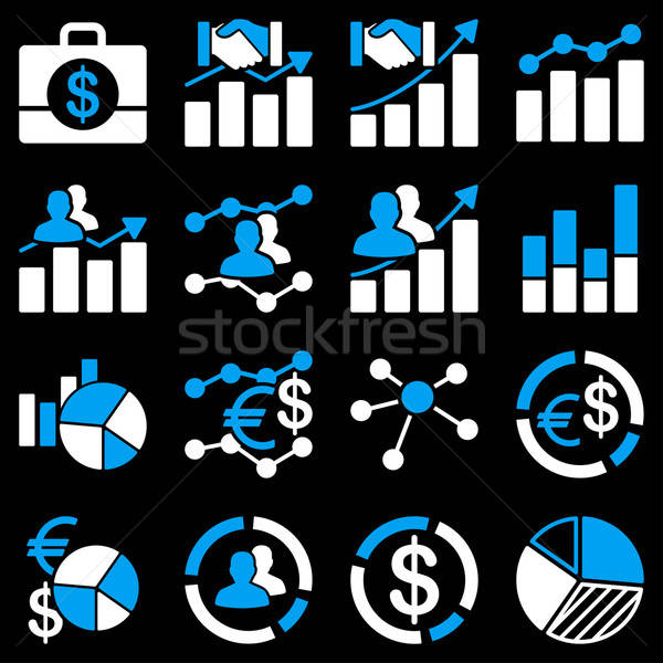 Business charts and reports icons.  Stock photo © ahasoft