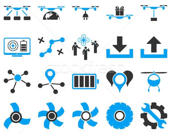 Aire herramienta iconos estilo vector Foto stock © ahasoft