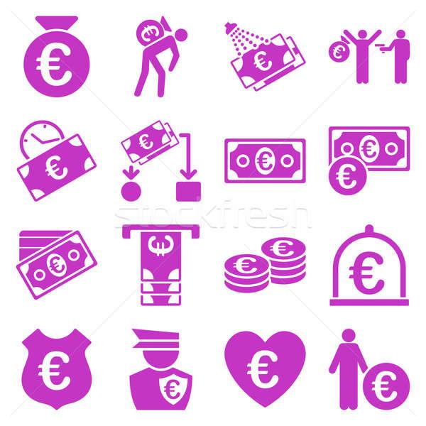 Euro Banking Business Service Werkzeuge Symbole Stock foto © ahasoft