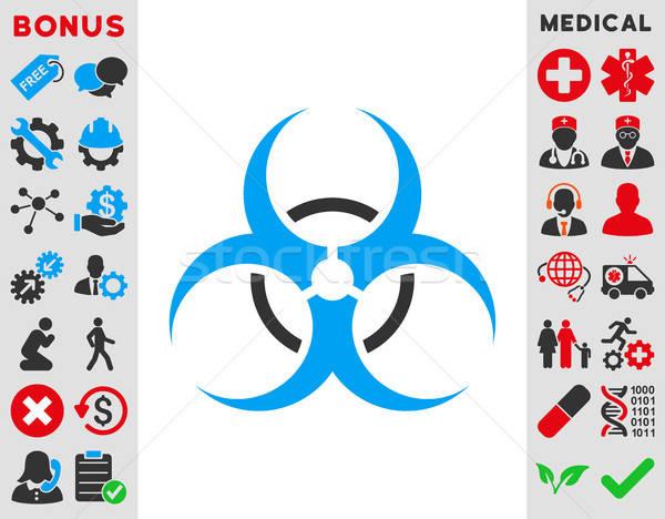 Bio опасность икона вектора стиль символ Сток-фото © ahasoft