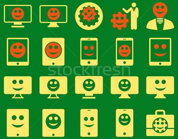 Stockfoto: Tools · opties · glimlacht · iconen · ingesteld