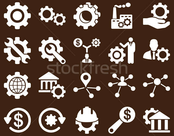 Settings and Tools Icons Stock photo © ahasoft