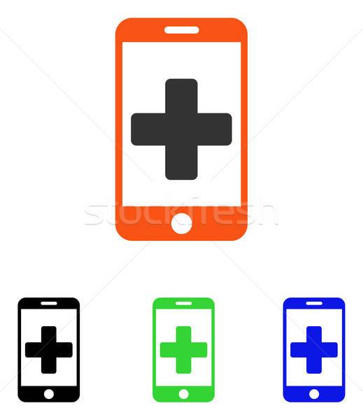 Línea médicos ayudar vector icono ilustración Foto stock © ahasoft