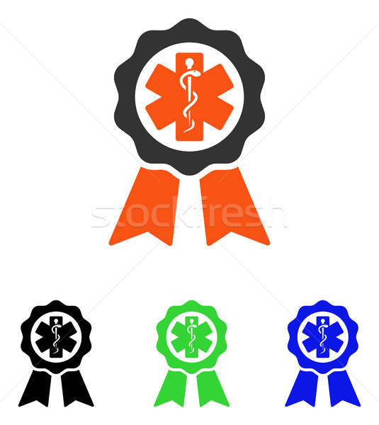 Medical Seal Flat Vector Icon Stock photo © ahasoft