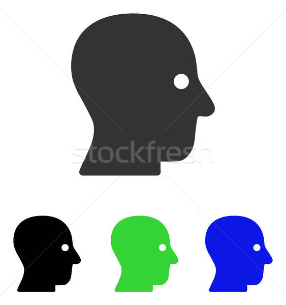 Silent Head Flat Vector Icon Stock photo © ahasoft
