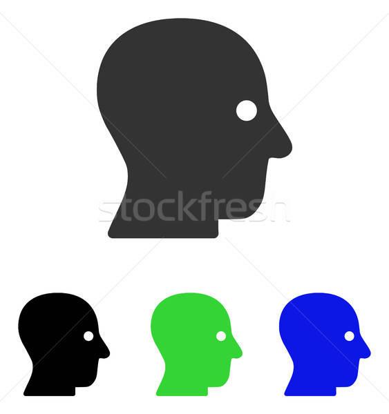 Stil hoofd vector icon illustratie stijl Stockfoto © ahasoft