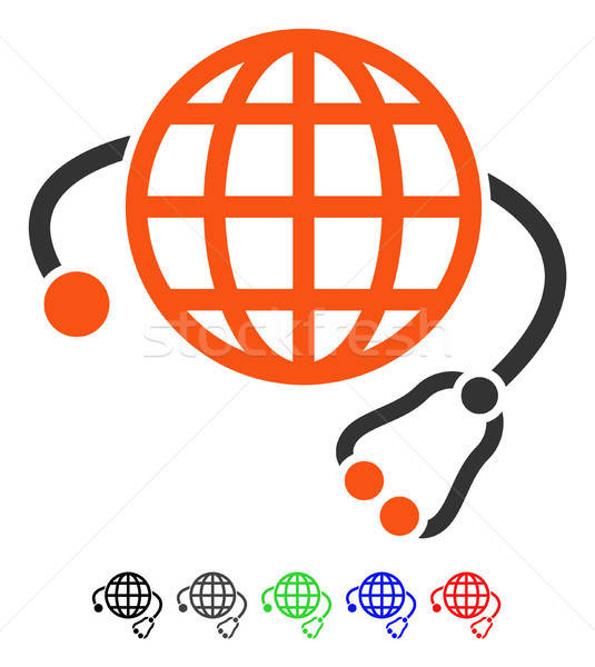 Global medicina icono vector color Foto stock © ahasoft