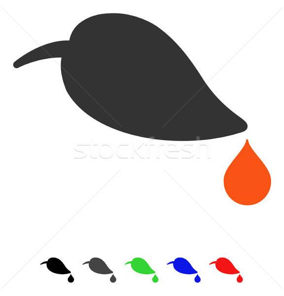 生態学 アイコン ベクトル 色 黒 ストックフォト © ahasoft