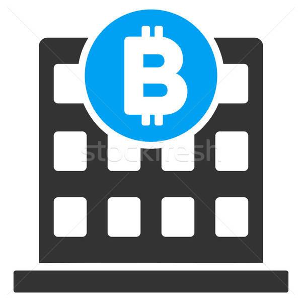 Bitcoin edificio de oficinas icono vector aplicación diseno web Foto stock © ahasoft