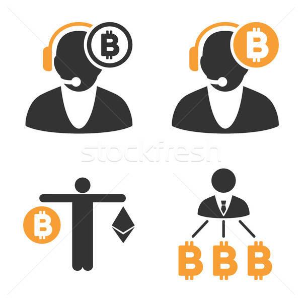 Bitcoin Operator Vector Icon Set Stock photo © ahasoft