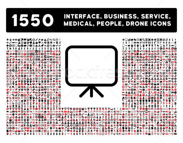 Presentation Screen Icon and More Interface, Business, Tools, People, Medical, Awards Flat Glyph Ico Stock photo © ahasoft