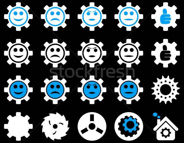 инструменты улыбка передач иконки вектора набор Сток-фото © ahasoft