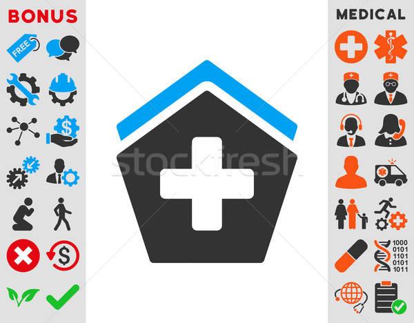 Clinic Building Icon Stock photo © ahasoft