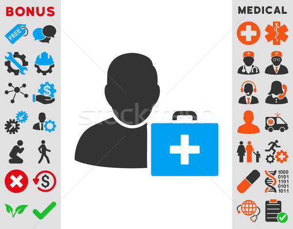 First Aid Man Icon Stock photo © ahasoft
