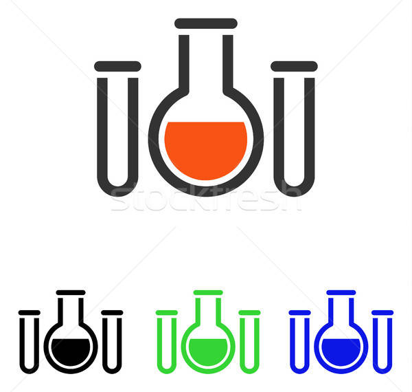 Chemical Vessels Flat Vector Icon Stock photo © ahasoft